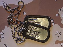 Plaque D Identit 233 Militaire Wikip 233 Dia