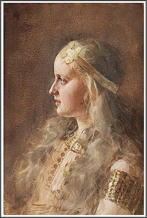 Gunnlöð - Gunnlöð as depicted by Anders Zorn.