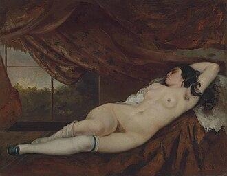 Femme nue couchée - Image: Gustave Courbet, Femme nue couchée, 1862