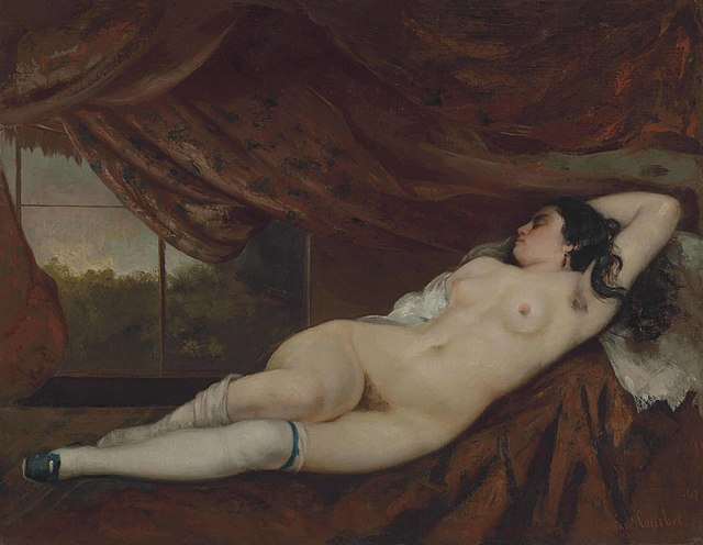 Gustave Courbet, Femme nue couchée, 1862