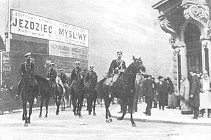 Jaime, Duke of Madrid - Russian cavalry in Warsaw, 1905