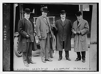 Harvey Washington Wiley - Image: HJ Titus, HW Wiley, AD Charlton, G Ainslie