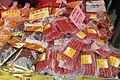 HK 柴灣公園 Chai Wan Park Football pitch temp market goods Chinese food Feb 2017 IX1 Chinese Sausage.jpg