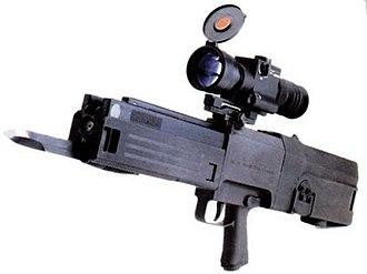 Heckler & Koch G11 - Image: HK G11 with bayonet
