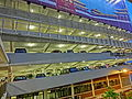 HK Sheung Wan Rumsey Street Multi-Storey Carpark facade evening Sept-2013.JPG