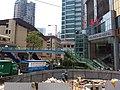 HK Tram tour view Causeway Bay 怡和街 Yee Wo Street August 2018 SSG 17 Terminus stop n footbridge.jpg