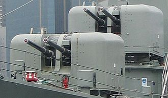 QF 4.5-inch Mk I – V naval gun - Twin mountings, Upper Deck, Mark VI on post-war ''Daring''-class destroyer. BD-s in contrast were semi-submerged turrets used on some of the major warships.