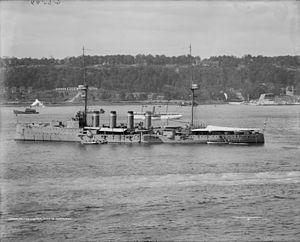 Duke of Edinburgh-class cruiser - Duke of Edinburgh at anchor in 1909