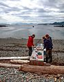 Haida Gwaii (Queen Charlotte Islands) - around Louise Island by Zodiak - a visit to the once thriving settlement of Skedans, now overseen by Haida Watchmen - our lunch is served - (21562834535).jpg