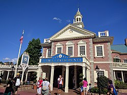 Hall of Presidents on Election Day (30561289940).jpg