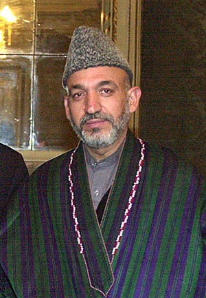 Afghan Interim Chairman Hamid Karzai in 2002
