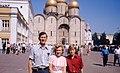 Hammond Slides Moscow 42. Hammond family in the Kremlin.jpg