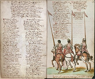 "National anthem - Early version of the ""Wilhelmus"" as preserved in a manuscript of 1617 (Brussels, Royal Library, MS 15662, fol. 37v-38r)"