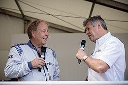 Hannu Mikkola Interview at 2014 Goodwood Festival of Speed (14521712961).jpg
