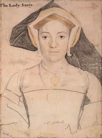 Henry Howard, Earl of Surrey - Frances de Vere, by Hans Holbein the Younger, c. 1535
