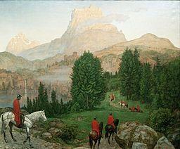 Hans Thoma - Die Gralsburg