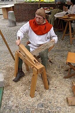 Harfleur - Compagnons duellistes - teillage du lin