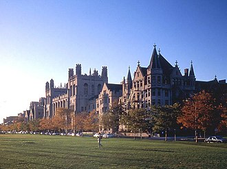 University of Chicago - View from the Midway Plaisance.
