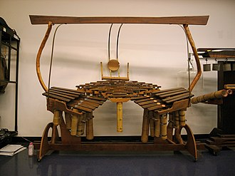 Harry Partch's 43-tone scale - The Quadrangularis Reversum, one of Partch's instruments featuring the 43-tone scale