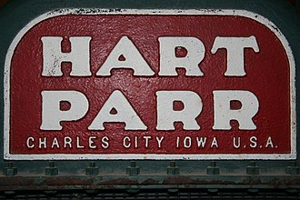 Charles City, Iowa - Hart-Parr Charles City nameplate on an early tractor