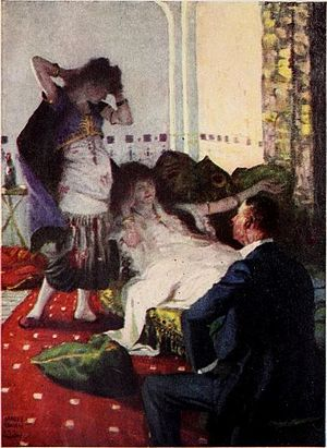 Harvey Dunn - Illustration for a serialized novel in the June 1922 Harper's Magazine.