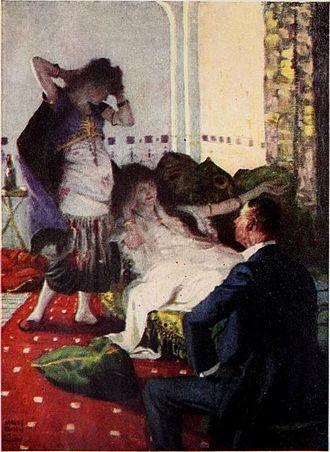 Harvey Dunn - Illustration for a serialized novel in the June 1922 Harper's Magazine.