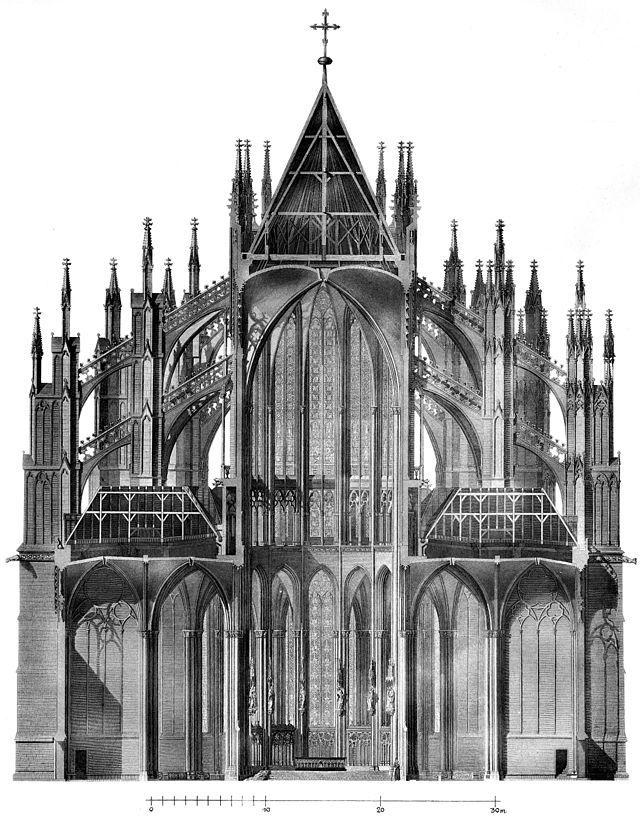 Hasak - Der Dom zu Köln - Bild 19 Querschnitt Chor Boisseree