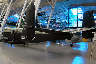 Organization of the Luftwaffe (1933–45) - Heinkel He 219 fuselage in museum with later flat black undersurfaces