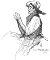 """He sang the worth of those who """"punch cows,"""" by Gerrit A. Beneker.png"""