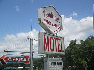 Townsend, Tennessee - Headrick's River Breeze Motel, which opened in 1979 and remains operational