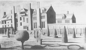 Heanton Satchville, Petrockstowe - The left wing in 1716, drawn by Edmund Prideaux (1693-1745) of Prideaux Place, Cornwall
