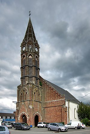 Hem, Nord - Image: Hem eglise