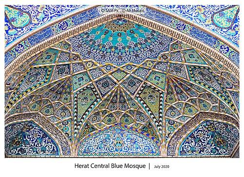 Herat Centeral blauwe moskee Architecture.jpg