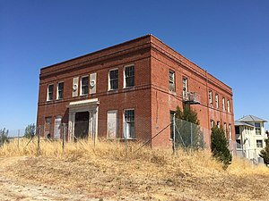 Hercules, California - The old administration building for the Hercules Powder Company in 2016, constructed 1918. The building has been saved by its place on the National Register of Historic Places and is awaiting preservation.