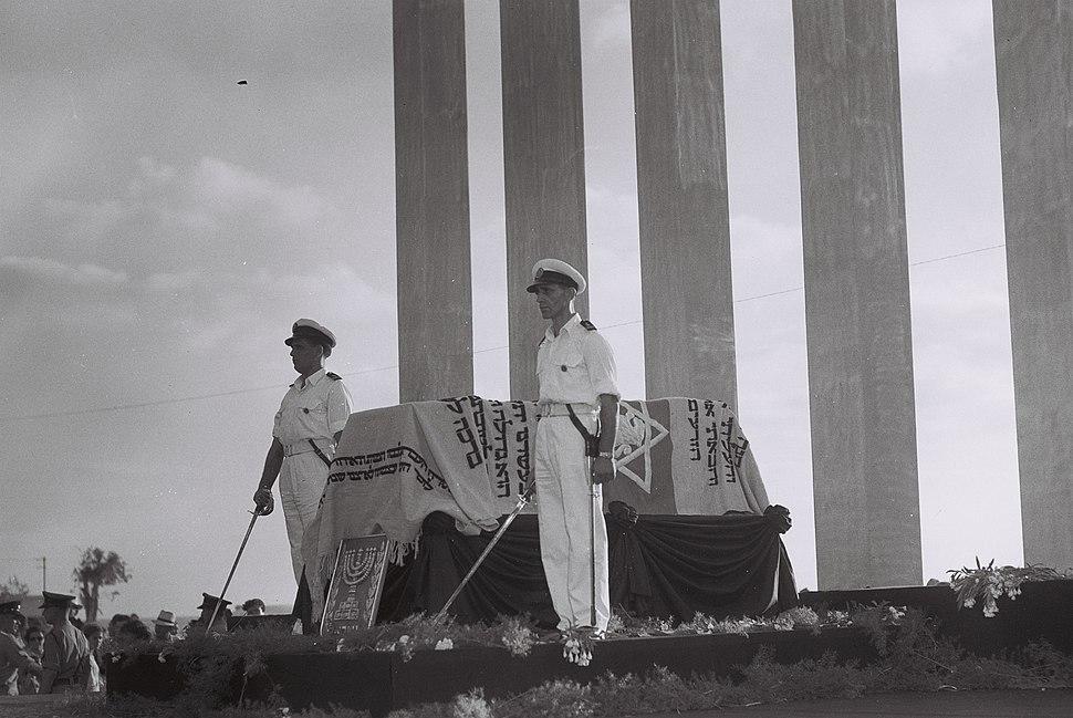 Herzel coffin honor guard