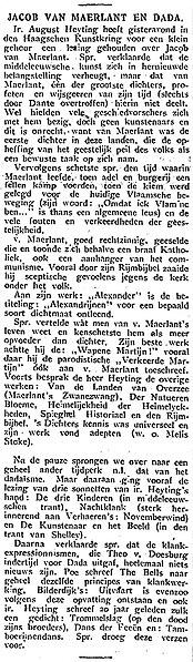 File:Het Vaderland vol 056 1924-01-06 Ochtendblad Jacob van Maerlant en Dada.jpg