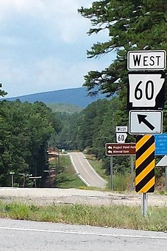 Arkansas Highway 60 - Highway 60 and Highway 7 intersection in Hollis