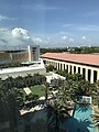 Hilton West Palm Beach pool, Palm Beach County Convention Center and parking garage.jpg