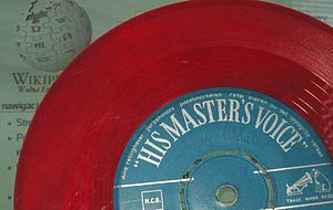 His Master's Voice - A coloured vinyl single released by HMV