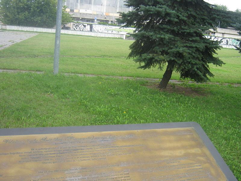 File:Historical Jewis Cemeteries near VIlnius Sport Palace.JPG