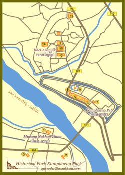 Map of Kamphaeng Phet