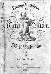 Le Chat Murr de E.T.A. Hoffmann, édition de 1855.