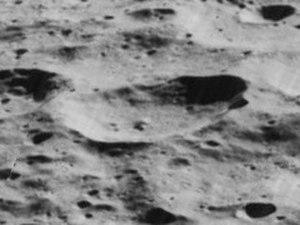 Hoffmeister (crater) - Oblique Lunar Orbiter 5 image