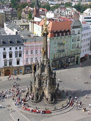 Marian and Holy Trinity columns - Holy Trinity Column in Olomouc, Czech Republic