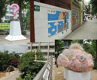 Hongdae, Seoul - Street art exhibition