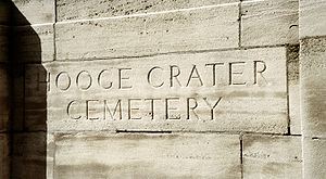 Entrance stone for Hooge Crater cemetery
