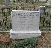 Grave of J. Edgar Hoover in Congressional Cemetery (Washington, DC, USA)