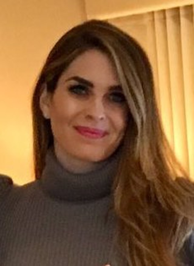 From commons.wikimedia.org: Hope Hicks {MID-273253}