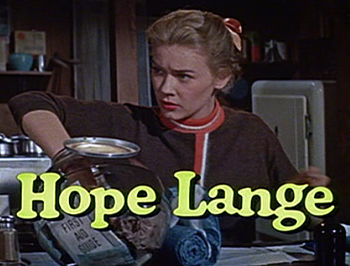 Screenshot of Hope Lange from the trailer for ...