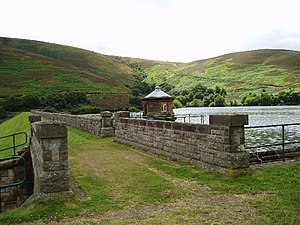 Hopes Reservoir Dam, Lammermuir hills. This Da...